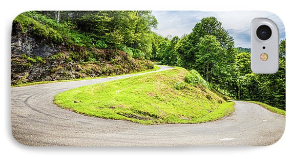 IPhone Case featuring the photograph Winding Road With Sharp Curve Going Up The Mountain by Semmick Photo