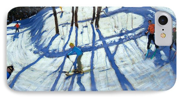 Winding Trail Morzine Phone Case by Andrew Macara