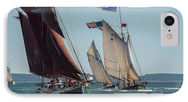Windjammer Race 2 IPhone Case by Fred LeBlanc
