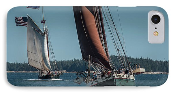 Windjammer Race IPhone Case by Fred LeBlanc