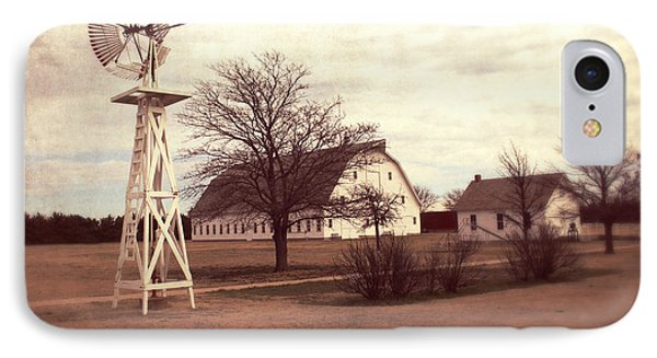 Windmill At Cooper Barn IPhone Case by Julie Hamilton