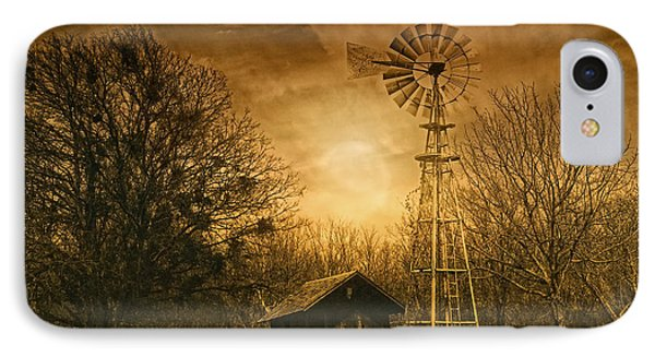 Windmill At Sunset Phone Case by Iris Greenwell