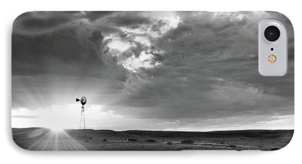 Windmill At Sunset IPhone Case by Monte Stevens