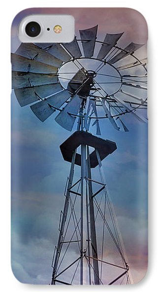 IPhone Case featuring the photograph Windmill At Sunset by Susan Candelario