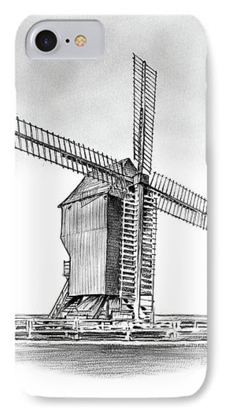 Windmill At Valmy IPhone Case by Greg Joens
