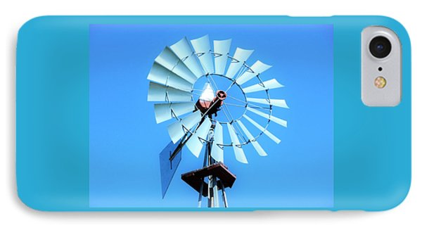 IPhone Case featuring the photograph Windmill - Bright Sunny Day by Ray Shrewsberry