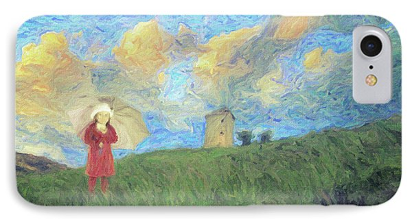 Windmill Girl IPhone Case by Taylan Apukovska