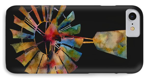 T Shirts iPhone 7 Case - Windmill by Hailey E Herrera
