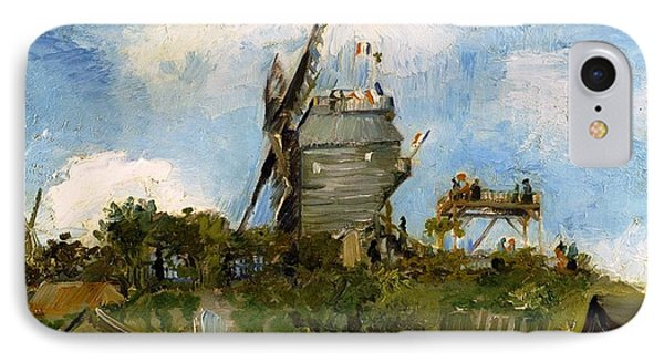 Windmill In Farm IPhone Case by Sumit Mehndiratta