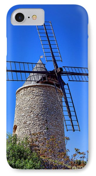 IPhone Case featuring the photograph Windmill In Provence by Olivier Le Queinec