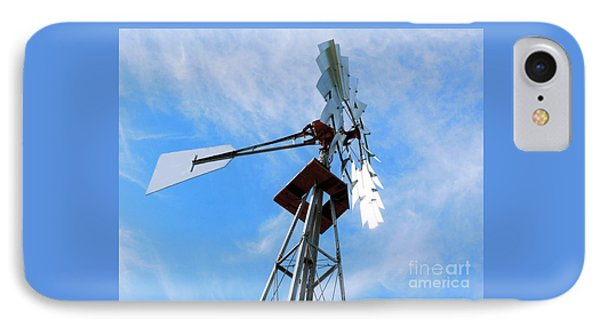 IPhone Case featuring the photograph Windmill - Mildly Cloudy Day by Ray Shrewsberry