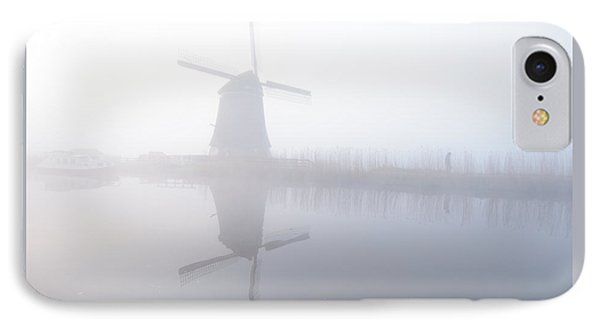 IPhone Case featuring the photograph Windmill Reflection by Phyllis Peterson