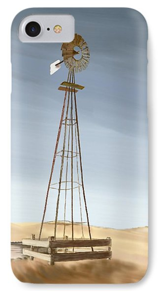 IPhone Case featuring the painting Windmill by Terry Frederick