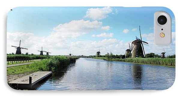 Windmills In Kinderdijk Holland IPhone Case by Loretta Luglio