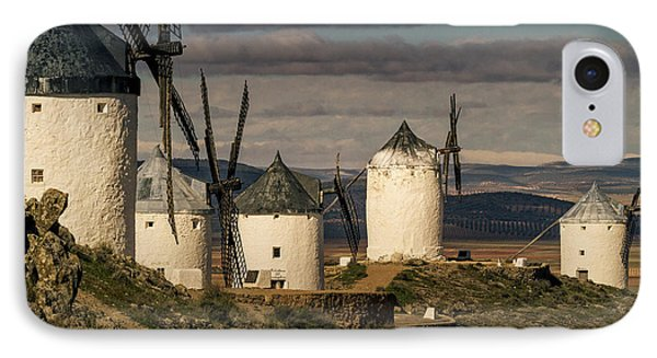 IPhone Case featuring the photograph Windmills Of La Mancha by Heiko Koehrer-Wagner