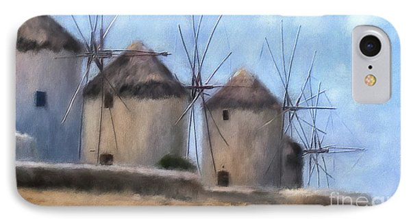 Windmills Of Mykonos IPhone Case by Lois Bryan