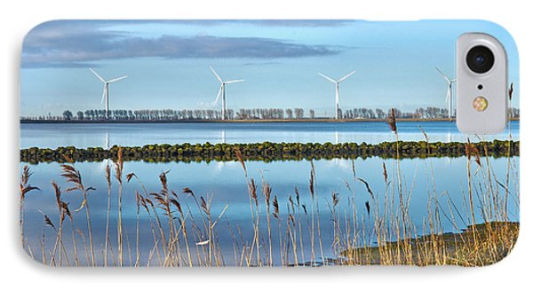 IPhone Case featuring the photograph Windmills On A Windless Morning by Frans Blok
