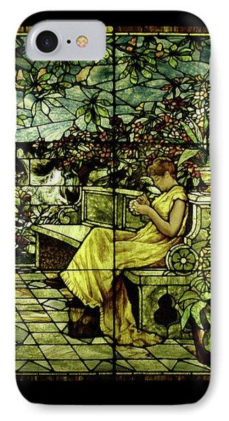 Window - Lady In Garden IPhone Case by Shirley Heyn