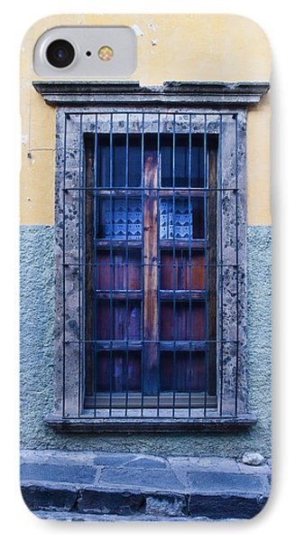 Window And Textured Wall IPhone Case by Carol Leigh