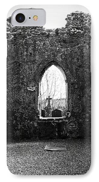 Window At Fuerty Church Roscommon Ireland Phone Case by Teresa Mucha