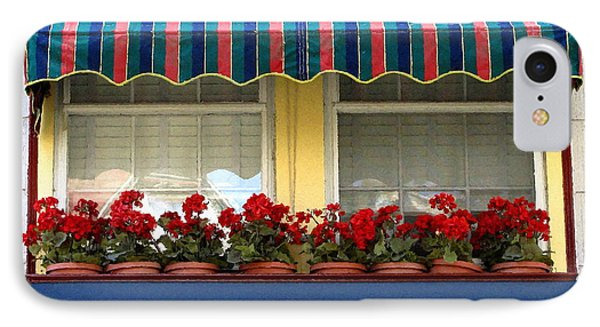 Window Box Geraniums Phone Case by Colleen Kammerer