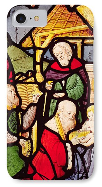 Window Depicting The Adoration Of The Magi IPhone Case by French School