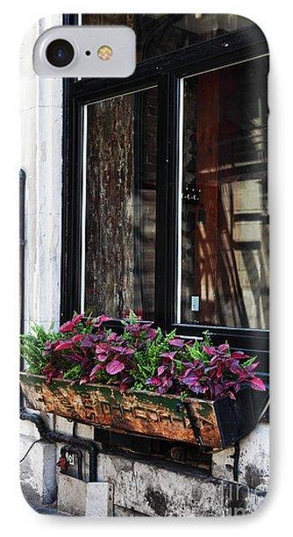Window Flowers Phone Case by John Rizzuto