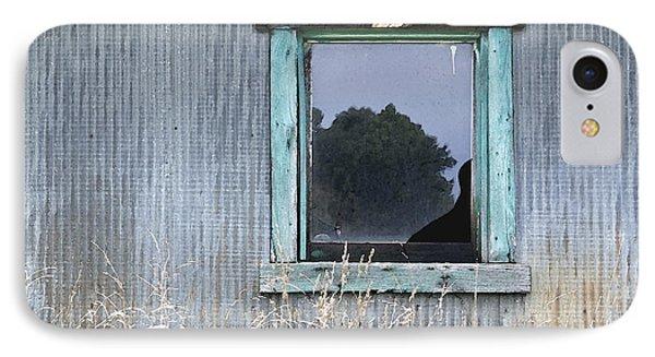 Window Framed In Aqua Phone Case by Glennis Siverson