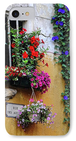Window Garden In Arles France IPhone Case by Dave Mills