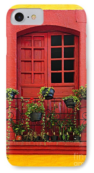 Window On Mexican House Phone Case by Elena Elisseeva
