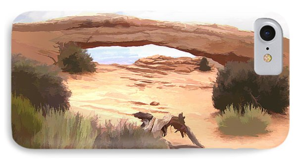 IPhone Case featuring the digital art Window On The Valley by Gary Baird