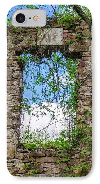 IPhone Case featuring the photograph Window Ruin At Bridgetown Millhouse Bucks County Pa by Bill Cannon