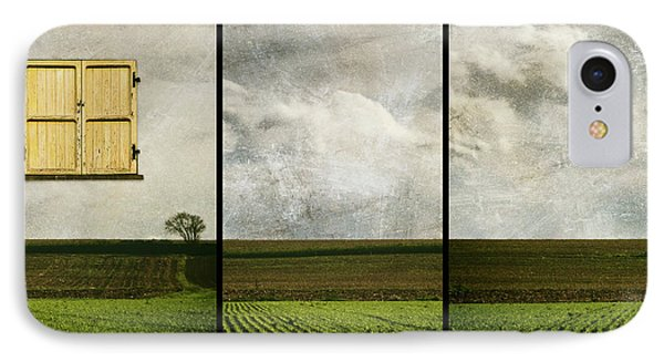 Window To Farmland Triptych IPhone Case by Wim Lanclus