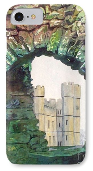 IPhone Case featuring the painting Window To The Past by LeAnne Sowa