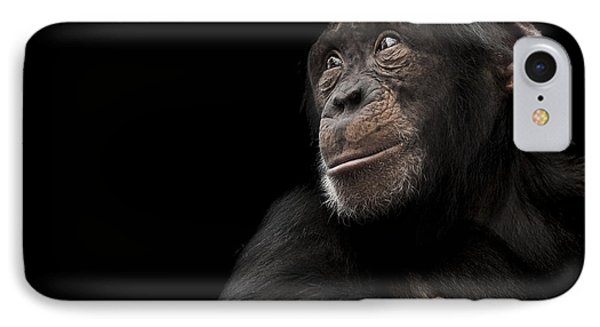 Chimpanzee iPhone 7 Case - Window To The Soul by Paul Neville