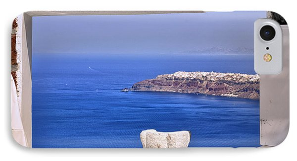 Window View To The Mediterranean IPhone Case by Madeline Ellis