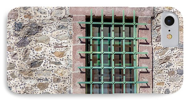 Window With Bars And Stone Wall IPhone Case by Douglas J Fisher