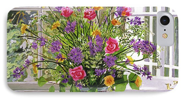 Windowsill Bouquet IPhone Case