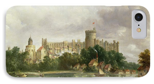 Windsor Castle - From The Thames IPhone Case by Alfred Vickers