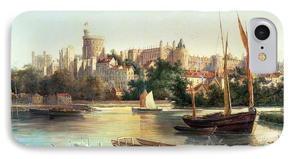 Windsor From The Thames   IPhone Case by Robert W Marshall