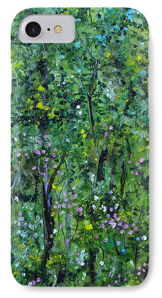 IPhone Case featuring the painting Windsor Way Woods by Judith Rhue