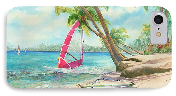 Windsurfing The Tropics IPhone Case by Marguerite Chadwick-Juner