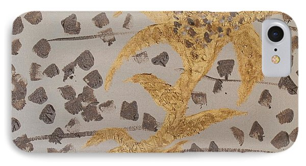 Windswept Golden Plantae #4 IPhone Case by Rachel Hannah