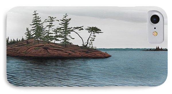 Windswept Island Georgian Bay Phone Case by Kenneth M  Kirsch