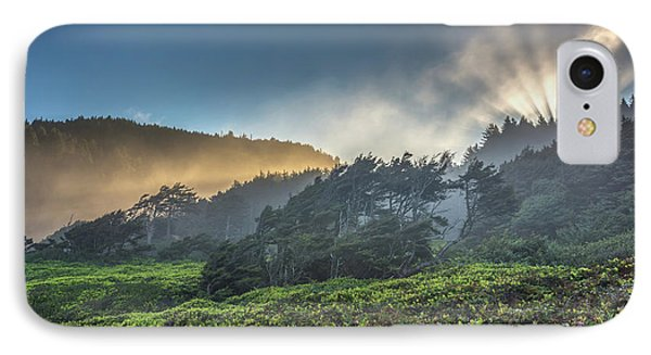 IPhone Case featuring the photograph Windswept Trees On The Oregon Coast by Pierre Leclerc Photography