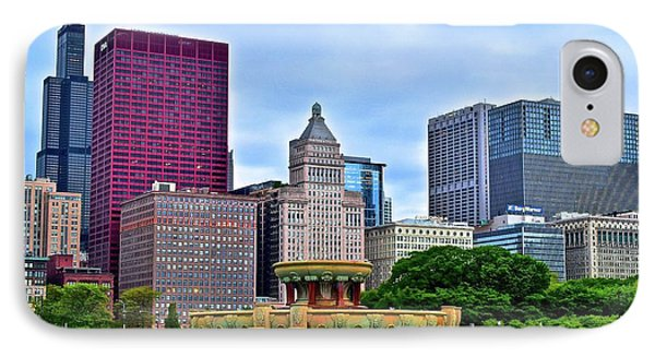 Windy City View From Buckingham IPhone Case