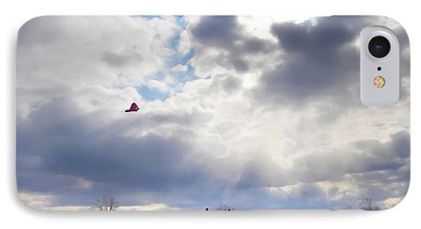 Windy Kite Day Phone Case by Bill Cannon