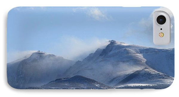 Windy Pikes Peak  IPhone Case by Christopher Kirby