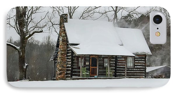 Windy Winter Day At The Cabin IPhone Case by Benanne Stiens