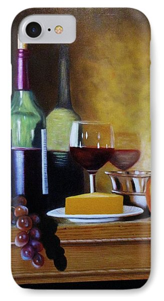 Wine And Cheese IPhone Case by Gene Gregory